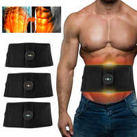 Electric Abdominal Muscle Trainer EMS Abs Fitness Equipment Training Muscle Exerciser Stimulate Toning Belt Exercise Gym At Home