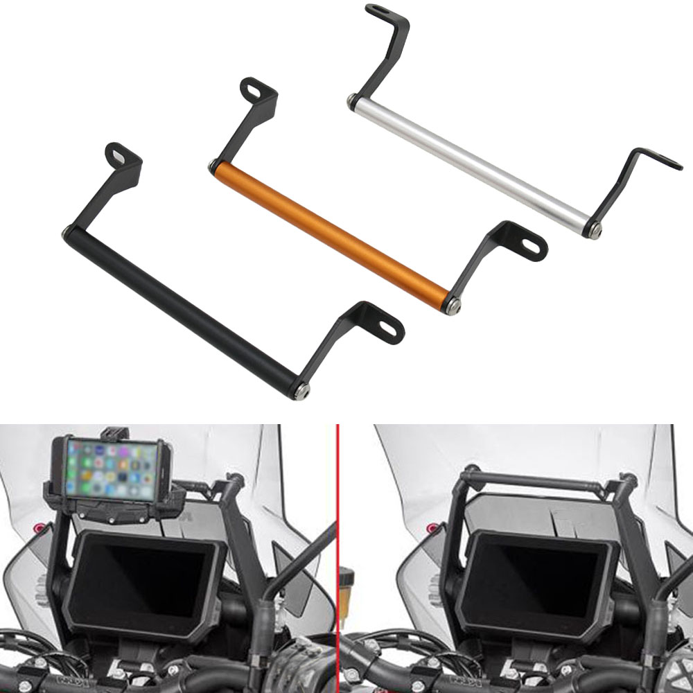 Aluminum Navigation Bracket Mounting Adapter Bracket Motor Mobile Phone GPS Holder for <font><b>KTM</b></font> <font><b>1290</b></font> <font><b>Super</b></font> <font><b>Adventure</b></font> <font><b>S</b></font> R 2017- <font><b>2019</b></font> image