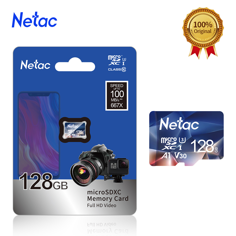Netac Memory Card micro sd 128GB 32GB 16GB 100MB/S 64GB Micro SD Card адаптер sd Flash Card SD Card Hot Sale P500 3