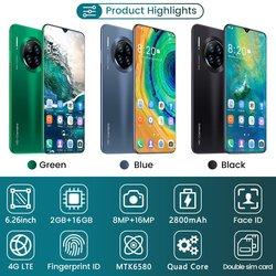 Mate30pro 6.26 cala 2 + 16GB telefon komórkowy inteligentny telefon rozpoznawanie twarzy technologia praktyczny inteligentny telefon