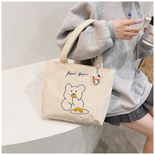 MABULA Carton  Foldable Corduroy Shopping Bag High Quality Eco friendly Reusable Grocery Tote Handbag Lightweight Shoulder Bags