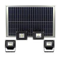 2020 new 20W solar LED floodlight 4 IN 1led spotlight 4heads reflector light outdoor wateproof garden light