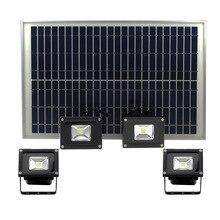 2020 new 20W solar LED floodlight 4-IN-1led spotlight 4heads reflector light outdoor wateproof garden light