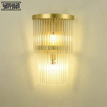 Led Wall Lamp Gold Crystal Nordic Modern Wall Sconces for Home Art Decor Living Room Bedroom K9 Lights Mirror Light Fixtures E14 стоимость
