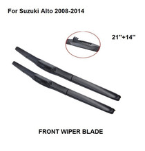 Lâmina de limpador do carro accessaries usada para suzuki alto 2008-2014 21 21 14 + 14 2 2 peças limpa pára-brisas borracha natural