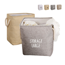 Large Laundry Hamper Foldable Dormitory Clothes Waterproof Storage Bucket Hamper Storage Basket Toy Box Cotton Linen Storage Bag american country style big size american flag foldable sundries storage bucket cotton and linen laundry bucket