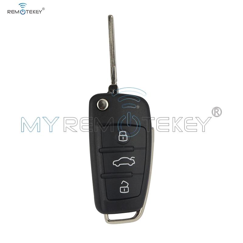 Klopný dálkový klíč do automobilu 8P0 837 220 D pro Audi A3 TT 2006 - 2013 434 mhz ID48 HU66 3 tlačítka remtekey