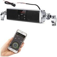 Беспроводной мотоцикл стерео динамик с управлением приложением, Аудио Звуковая система MP3 USB FM 7/8-1 дюймов крепление на руль