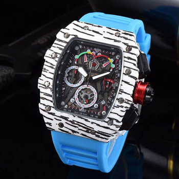 2021 Richard Luxury Quartz Watch Women's 6-pin Full-Function Watch Men's Watch Watch Waterproof Reloj Hombre Charlie 1