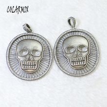 5 pieces Skull pendants Ancient silver colors necklace pendants hollow retro jewelry for women accessories pendants beads 50029