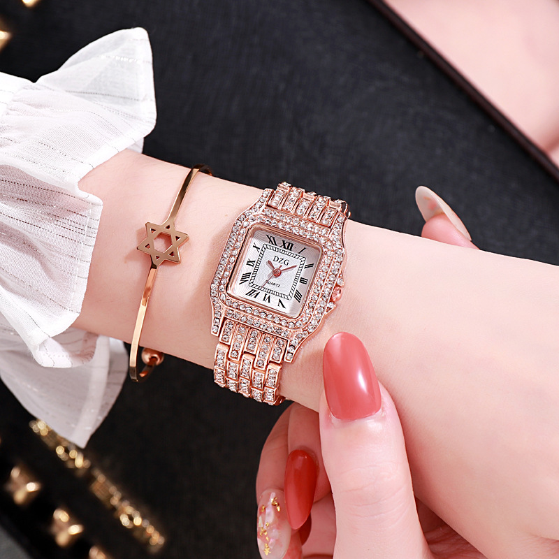 2020 new square wristwatch water diamond women's watch fashion student watch high grade alloy quatz watch 2