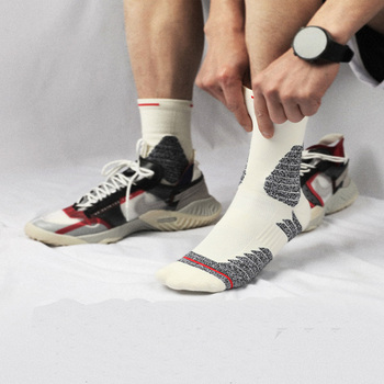 USHINE profesjonalne buty sportowe do jazdy na świeżym powietrzu buty sportowe do biegania na świeżym powietrzu tanie i dobre opinie CN (pochodzenie) Podkolanówki Do koszykówki Men Women Combed Cotton