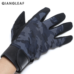 Image 2 - QIANGLEAF Tactical Pu Work Gloves Anti Slip Hunting Camping Cycling Camouflage Outdoor Sport Fishing Safety Cycling Glove 2500MC