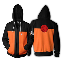 Anime Zipper Hoodies, Cosplay Naruto 3D Hoody Coat Hooded Sweatshirts Streetwear Casual Sweatshirts, Animation costumes