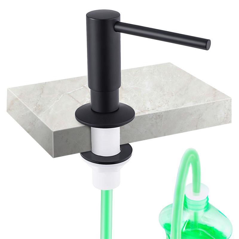 Dispenser De Embutir Preto Acabamento Fino   Preto Porta Sabonete Liquido