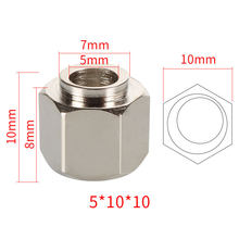 MEGA 50pcs/lot Eccentric Spacer 5mm Bore OD 10mm Height 10mm Nuts Carbon Steel Nickel Plated 3D printer Parts Aluminum Extrusion