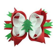 цены 5 inch Christmas Stacked Boutique Hair Bow Alligator Clips Hair Accessories Kids Baby Girl Gifts Headwear