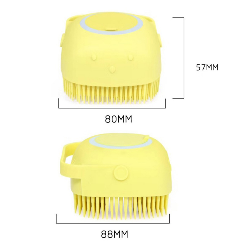Silicone massage bath brush Liquid Soap Dispenser
