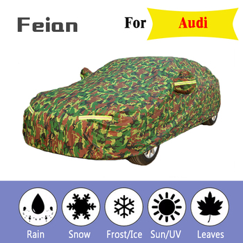 Waterproof camouflage car covers sun protection cover for car reflector dust rain snow protective suv sedan full for Audi