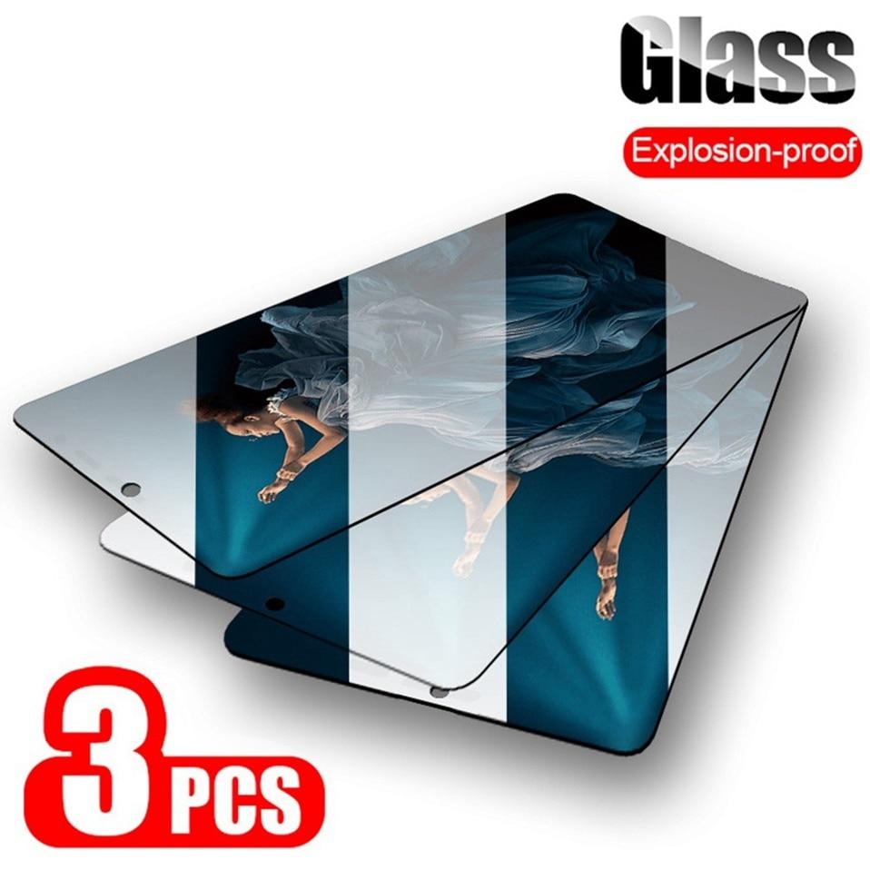 3 pçs vidro temperado para honra 10 lite 20 pro 10i x 9s 9 lite vista 20 protetor de tela vidro para huawei honra 8x 9a 10x 20 s vidro