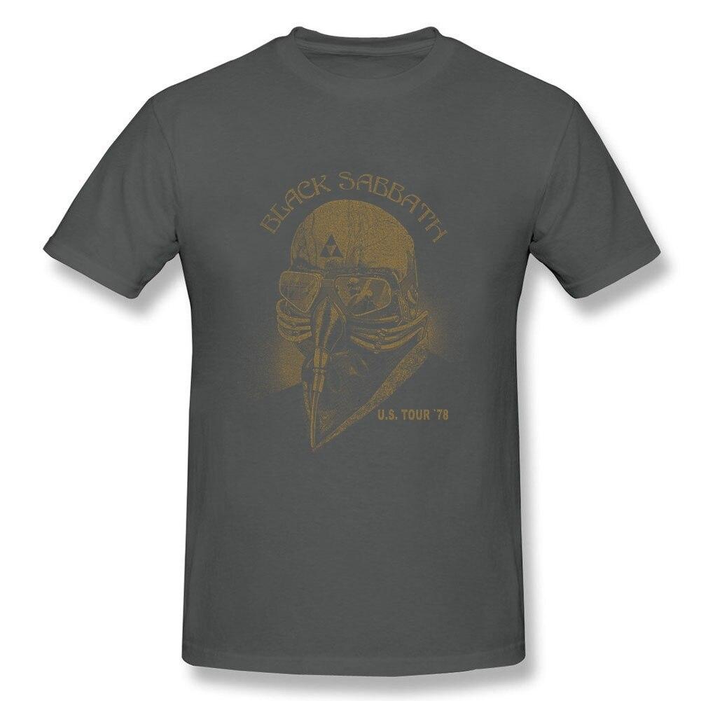 Hip Hop Street Man Black T-shirt Sabbathe Rock Band Short Sleeve Shirts US Tour 78 Adult Great Cotton O Neck T Shirt For Group
