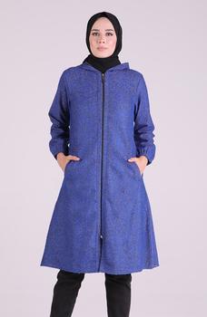 Minahill saksońska niebieska peleryna 0221A-03 tanie i dobre opinie Blazer Dla dorosłych Octan
