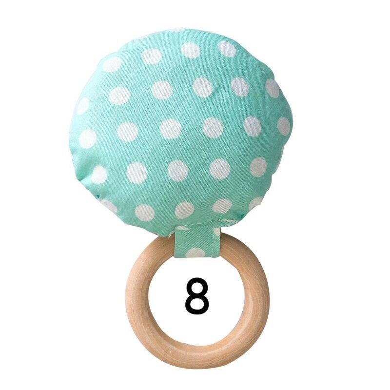 Новорожденный ребенок прорезыватель кольцо Жевательная Прорезыватель портативный ручной безопасная, из дерева натуральное кольцо детские зубы упражняющая игрушка подарок - Цвет: H