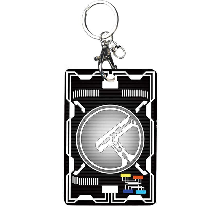 Masker Knight Zero One Ryotaro Nogami Gambar Pinggang Pemegang Kartu Mahasiswa Liontin Gantungan Kunci Kartu Bus Anime Perifer