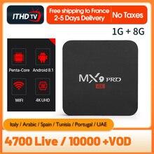 Italian IPTV France Arabic Portugal Turkey IP TV 1 Year Box ITHDTV MX9Pro Android 8.1 1G+8G IPTV Italy France Arabic IPTV Box цена и фото