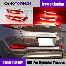 1 пара для hyundai tucson автомобильный Светодиодный отражатель задняя противотуманная лампа задняя бампер свет аксессуары для тормозов свет