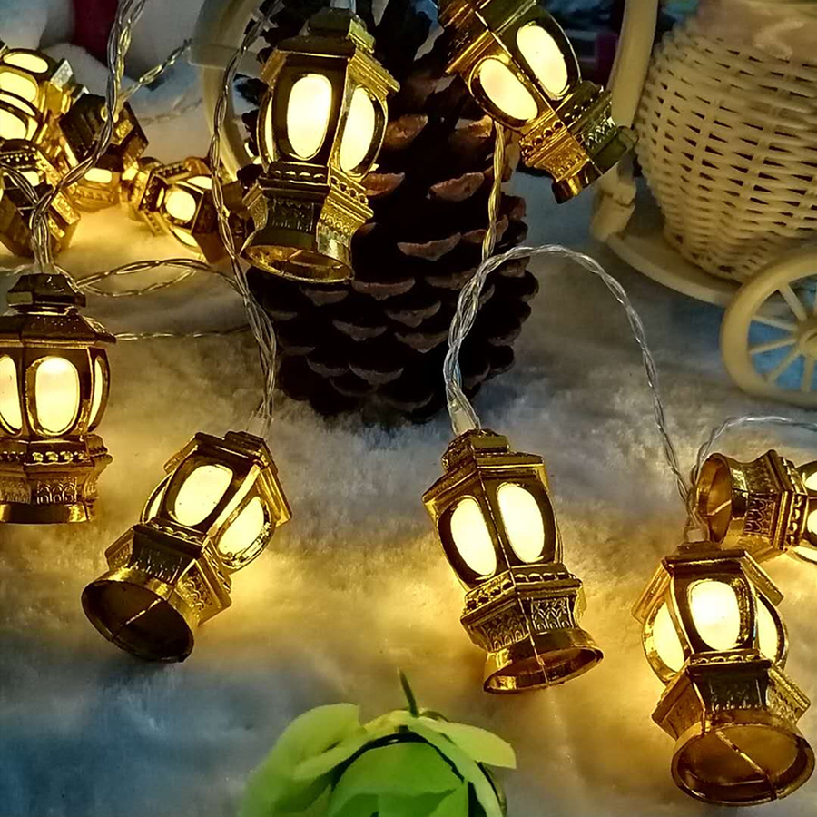 Thrisdar 4M 20 LED 220V Chinese Lantern Fairy String Light Outdoor Garden Patio Christmas Party Lantern String Garland Light