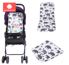 Printed Cotton Baby Stroller Pad Newborn Pram Strollers Seat Cushion Soft Diaper Mat Accessories