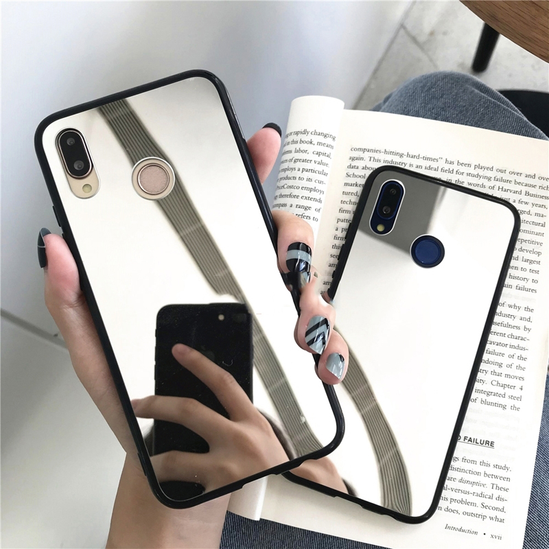 Luxury Full Mirror Soft Case For OPPO R9 R9S R11 R11S Plus R15 R17 Pro A3 A3S A5 A7 A7X AX7 A8 A9 A11 A11X 2020 F5 F7 F9 Cover image