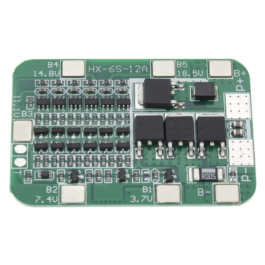 5S 15A BMS Protection PCB Board For 5 Packs 18650 Li-ion Lithium Battery Cell