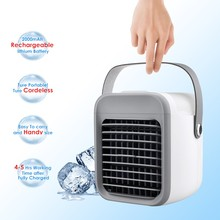 Fan Air-Conditioner-Fan Portable with 3-Speeds 7-Colors Cordless Evaporative Handle