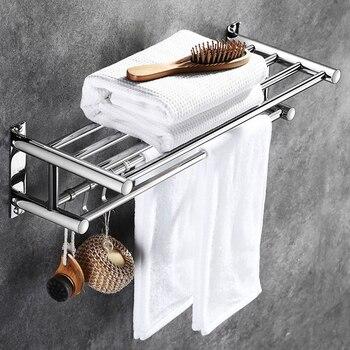 304 держатель для полотенец из нержавеющей стали для ванной комнаты, набор аксессуаров для дома и отеля, органайзер, настенный держатель для ...