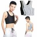 Повседневный дышащий короткий жилет с пряжкой для груди, топы для груди, нижнее белье для груди, майки, бандаж, дышащий боковой крючок