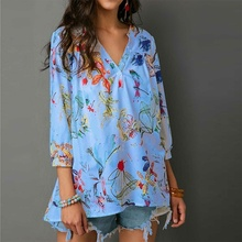 new Festivals Classics Comfort Floral Printed Summer Women's  Casual Tank Tops Long Sleeve Cute sexy Blouse Shirt Plus Size xxl