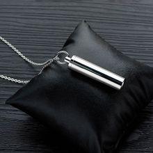 Ювелирный цилиндр для кремации из нержавеющей стали, домашнее животное ожерелье с урной на память, Крыло ангела M0XD
