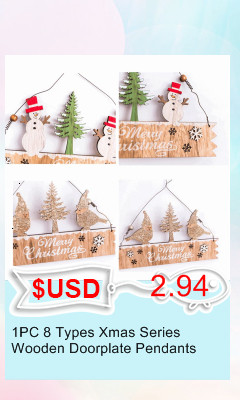 3PCS/lot Creative White Deer/Snowflake Wooden Pendants Christmas Tree Ornaments Decorations Xmas Wood Crafts Home Party Supplies 16
