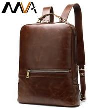 MVA мужской рюкзак из натуральной кожи анти-вор Мужской 14 дюймов ноутбук рюкзаки женские школьные сумки для мужчин Mochila
