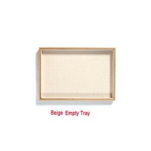 Image 4 - Bamboo Velvet Jewelry Display Tray Ring Earring Necklace Bracelet Pendant Display Organizer Jewelry Storage Box