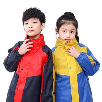 Children Waterproof Raincoat Outdoors Poncho Overall Raincoat Lightweight Stylish Reusable Impermeable Rain Coat Girls OO50YY