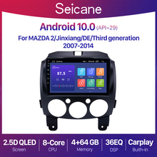 """Seicane 9"""" Android 10.0 2+32G Car Radio GPS QLED For MAZDA 2 2007 2013 2014 DSP 2din Video Player Navigation Multimedia Player"""