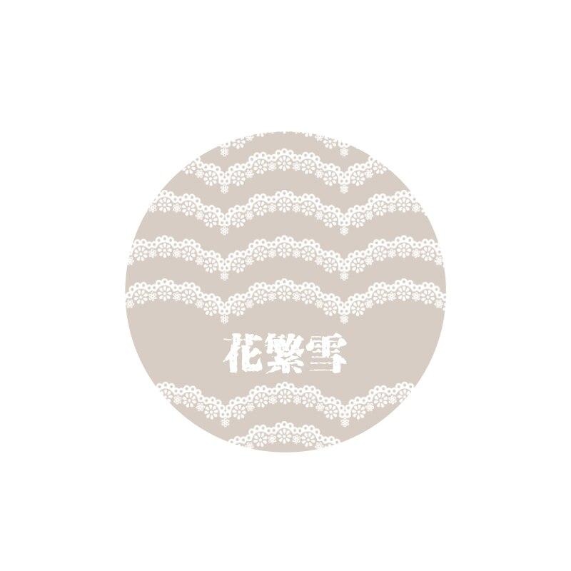 Креативная Звездная ночь лодка занавес кружева пуля журнал васи клейкая лента DIY Скрапбукинг наклейка этикетка маскирующая лента - Цвет: 15 design 3cm