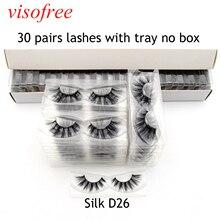 Visofree 30 пар/лот натуральные накладные Искусственные ресницы для длинного макияжа 3D норковые ресницы для наращивания ресниц Silk-D26