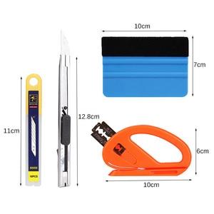 Image 5 - 4 Teile/satz Auto Folie Werkzeug Vinyl Wrap Film Auto Wrap Werkzeuge Kit Auto Aufkleber Filz Rakel Schaber Snitty Cutter Auto styling