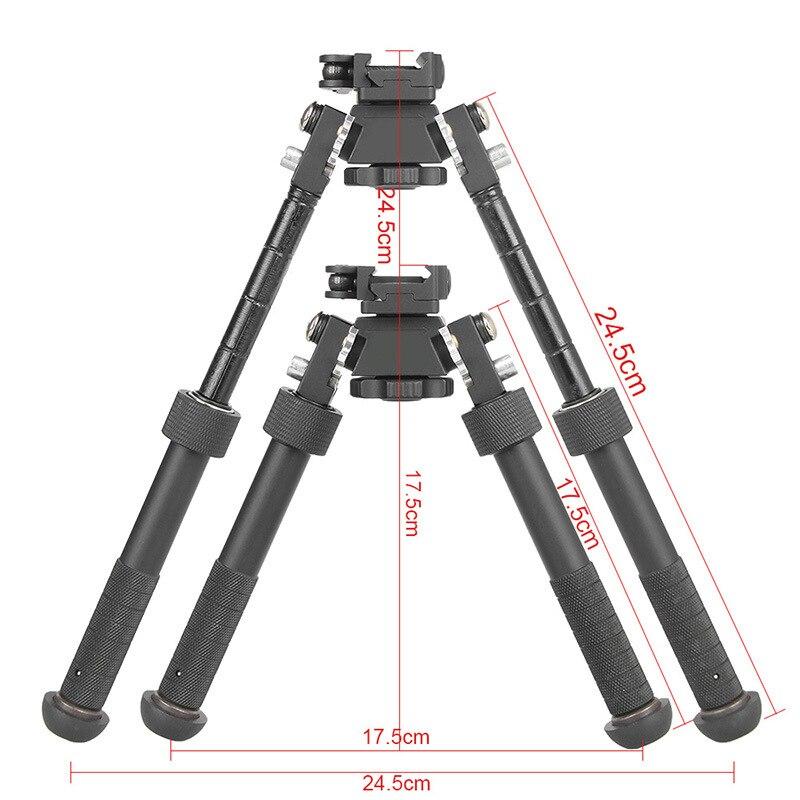 Adaptador giratorio de montaje giratorio para Rifle Bipod para caza Weaver Harris Rail Mount Adopter militar Rifle