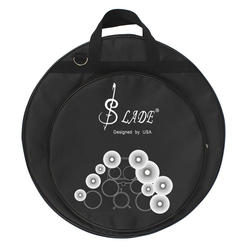 ABUO-SLADE 21-Inch Three Pockets Cymbal Bag Backpack With Removable Divider Shoulder Strap Percussion Instrument