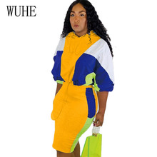 WUHE Autumn Matching Casual Hooded Two Pieces Sets Pencil Dress Long Sleeve Hollow Out Bodycon Bandage Stylish Short